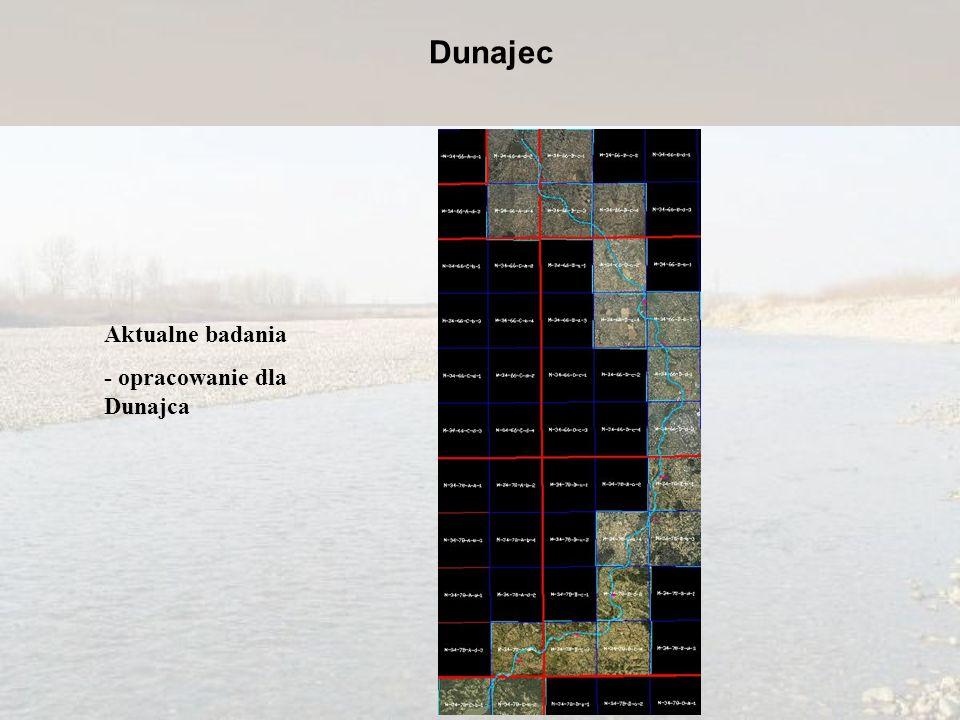 Aktualne badania - opracowanie dla Dunajca Dunajec