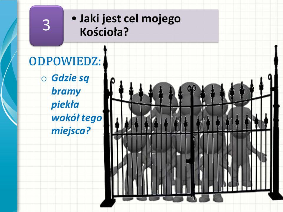 ODPOWIEDZ: o Gdzie są bramy piekła wokół tego miejsca? Jaki jest cel mojego Kościoła? 3