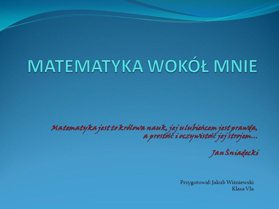Przygotował: Jakub Wiśniewski Klasa VIa