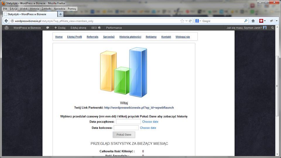 Inne wtyczki PP Darmowa wtyczka – Affiliates http://wordpress.org/extend/plugins/affiliates/ http://wordpress.org/extend/plugins/affiliates/ Post Affiliate PRO http://www.postaffiliatepro.com/ iDevAffiliate http://www.idevdirect.com/