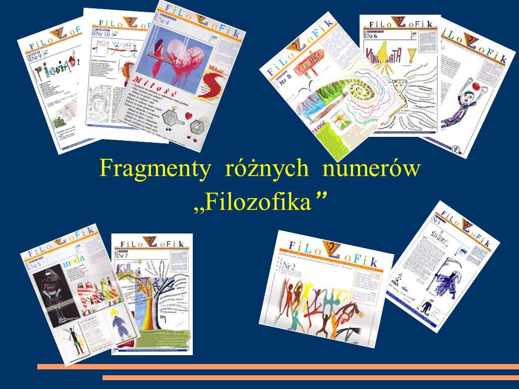 Fragmenty różnych numerów Filozofika