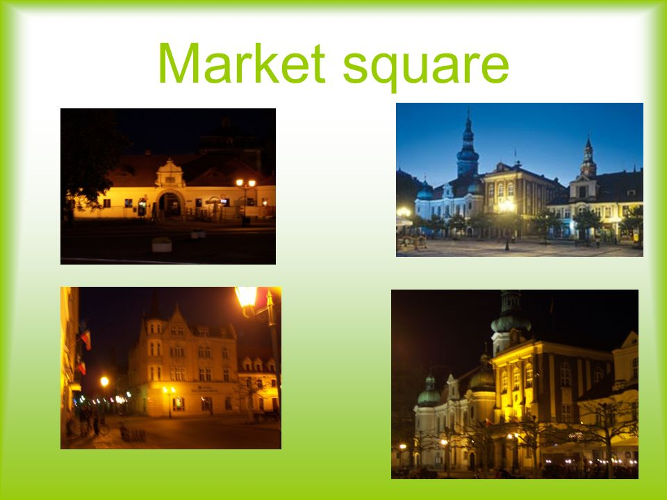 Market square in Pszczyna The most visited places in Pszczyna are the market square and the park.
