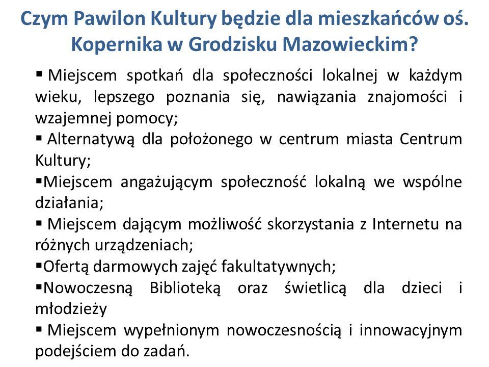 Czym Pawilon Kultury będzie dla mieszkańców oś. Kopernika w Grodzisku Mazowieckim? Miejscem spotkań dla społeczności lokalnej w każdym wieku, lepszego