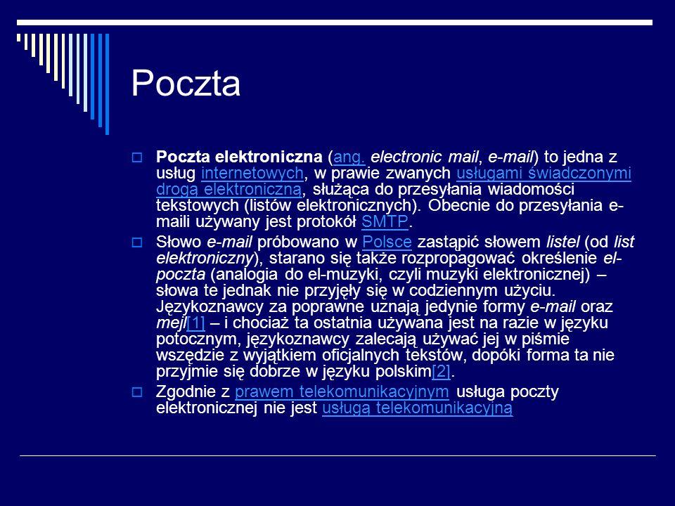 Poczta Poczta elektroniczna (ang.
