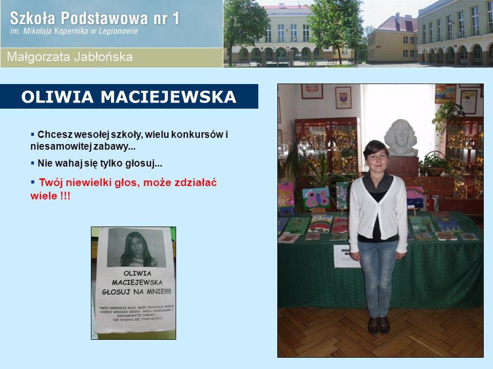 KANDYDACI Z KLASY 4A Angelika Skurzyńska Kacper Jaroszewski Michał Taperek