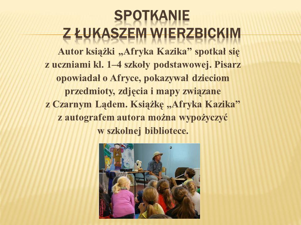 Autor książki Afryka Kazika spotkał się z uczniami kl.