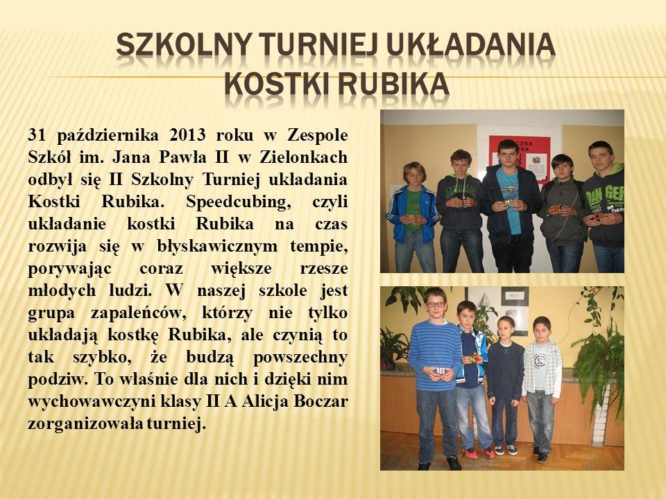 31 października 2013 roku w Zespole Szkół im.