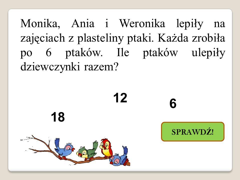 Monika, Ania i Weronika lepiły na zajęciach z plasteliny ptaki.
