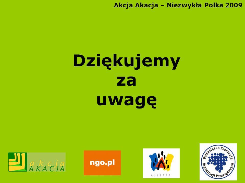 Akcja Akacja – Niezwykła Polka 2009 Dziękujemy za uwagę