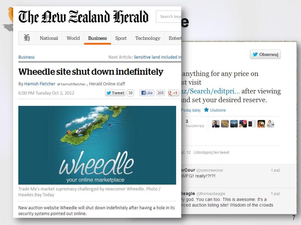 7 Przykład - Wheedle październik 2012 Nowy serwis aukcyjny