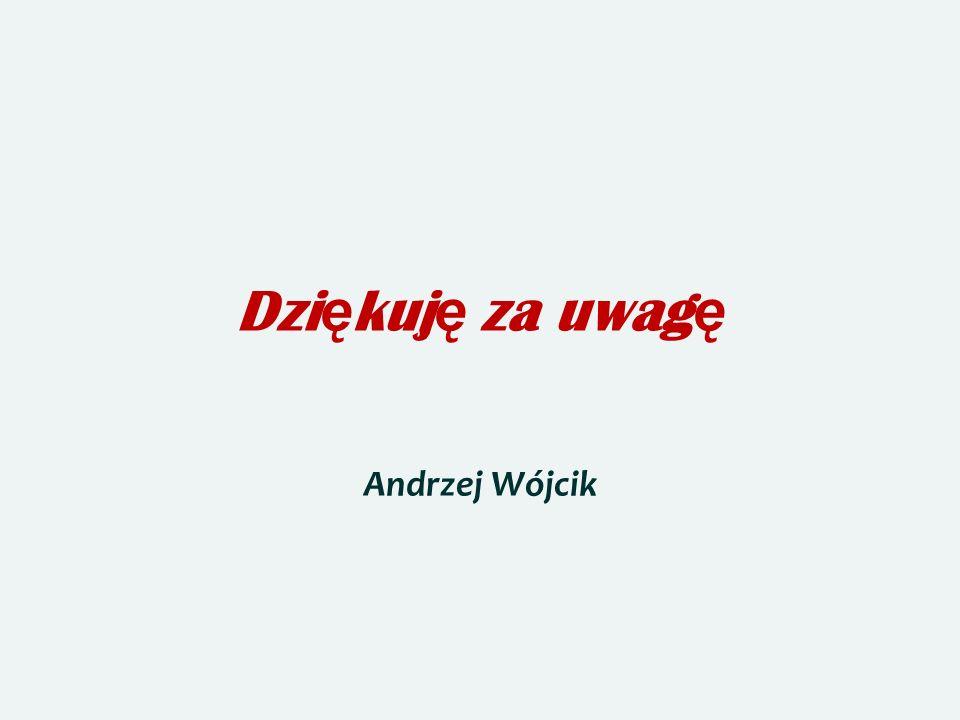 Dzi ę kuj ę za uwag ę Andrzej Wójcik