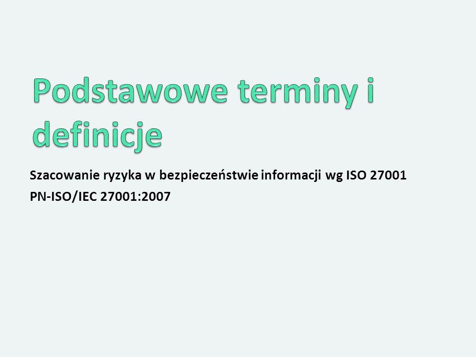 Szacowanie ryzyka w bezpieczeństwie informacji wg ISO 27001 PN-ISO/IEC 27001:2007