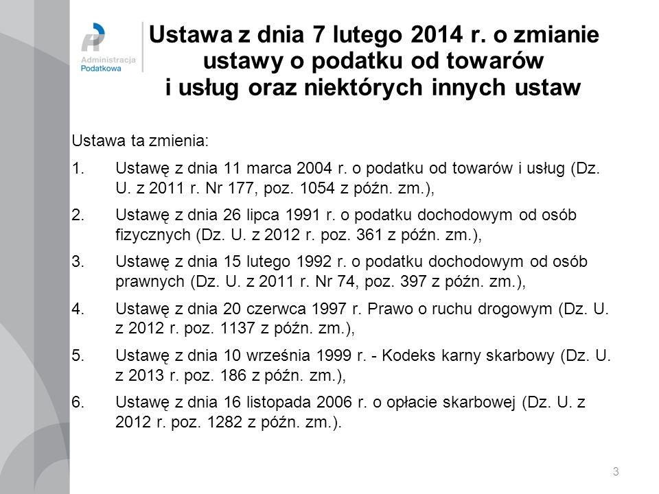 24 Nowelizacja ustawy o podatku od towarów i usług (art.