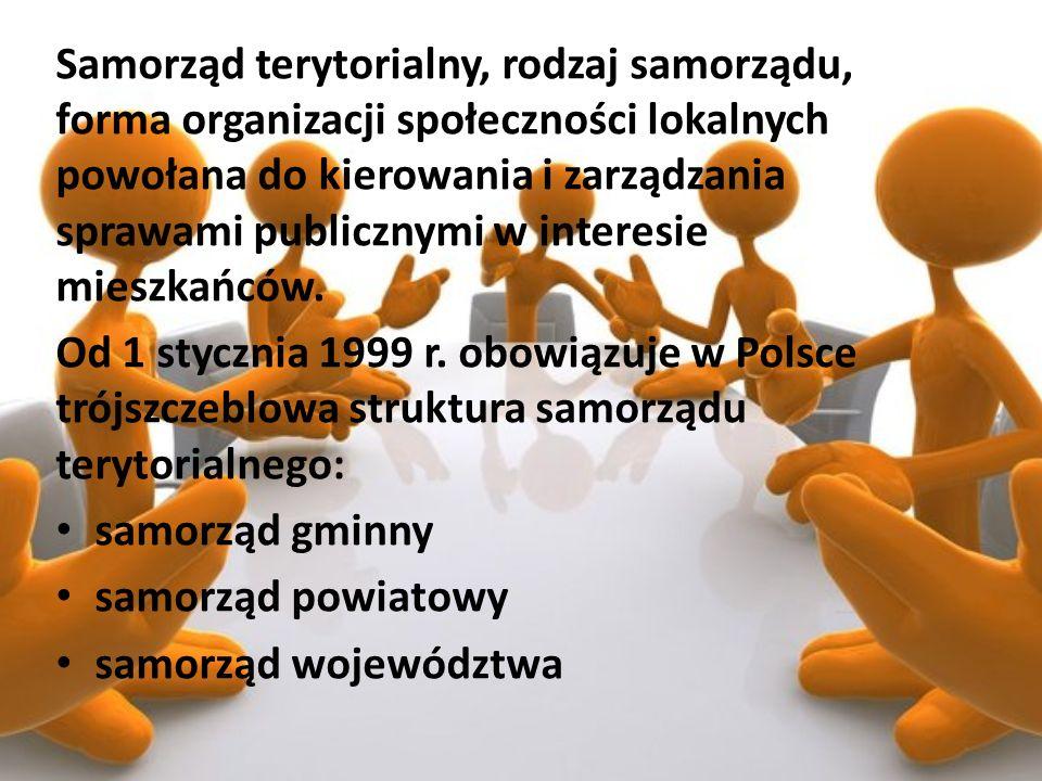 Samorząd terytorialny, rodzaj samorządu, forma organizacji społeczności lokalnych powołana do kierowania i zarządzania sprawami publicznymi w interesi