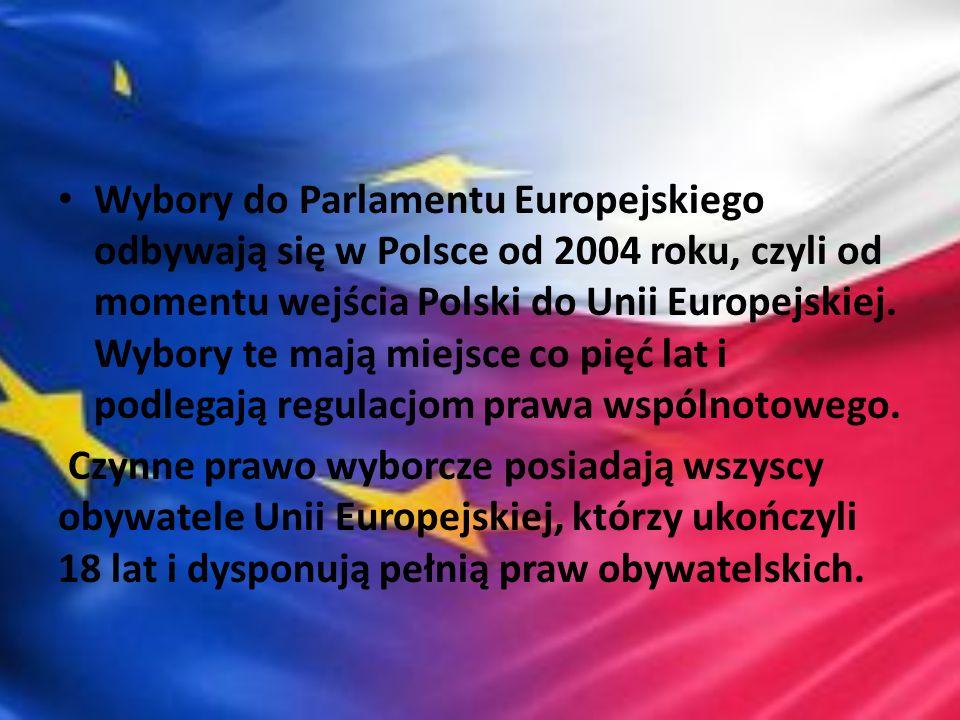 Wybory do Parlamentu Europejskiego odbywają się w Polsce od 2004 roku, czyli od momentu wejścia Polski do Unii Europejskiej. Wybory te mają miejsce co