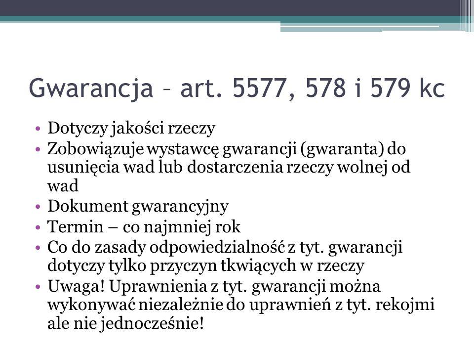 Gwarancja – art.