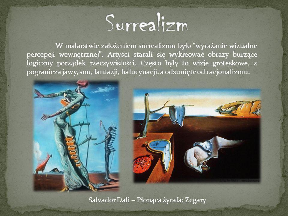 W malarstwie założeniem surrealizmu było