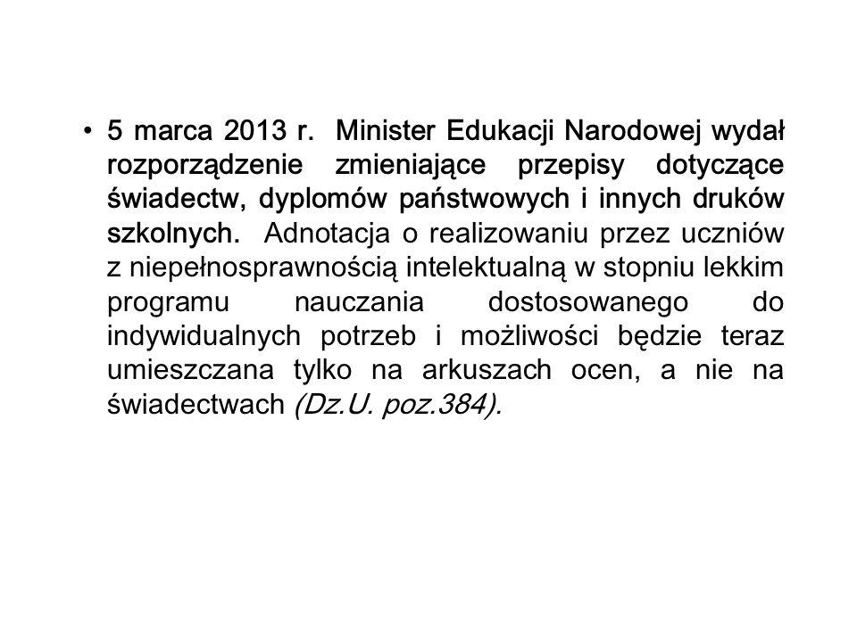 5 marca 2013 r.