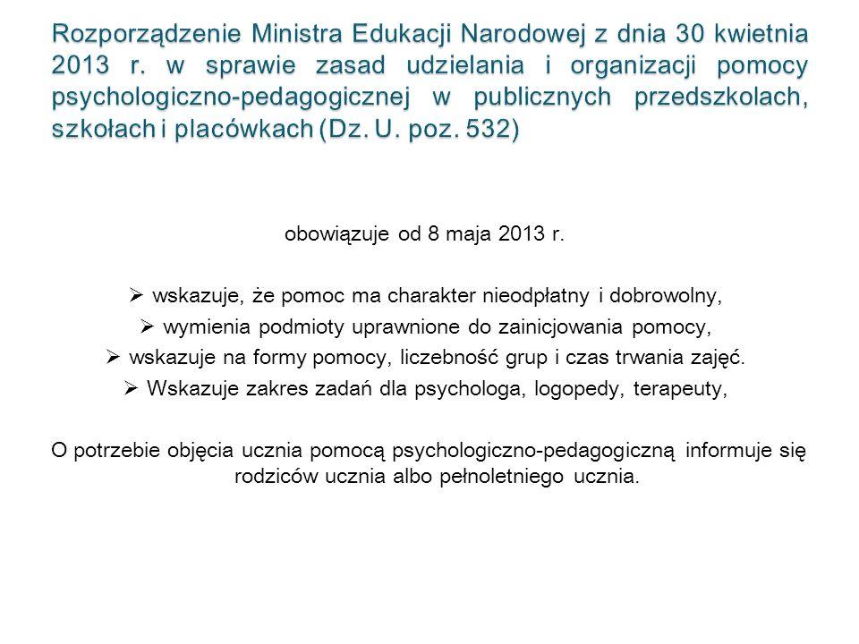 obowiązuje od 8 maja 2013 r.