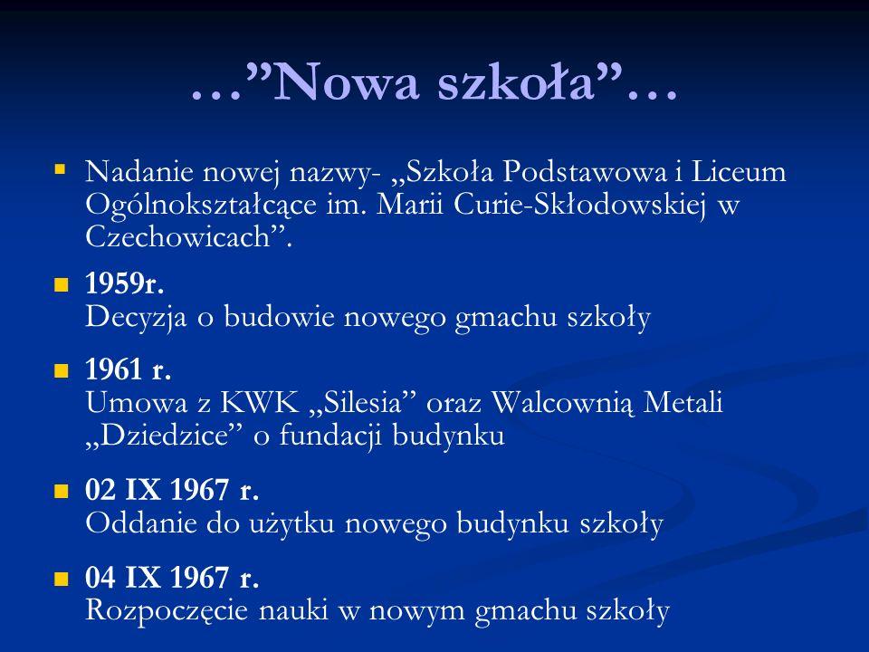 Kontakt Liceum Ogólnokształcące im.Marii Skłodowskiej-Curie ul.