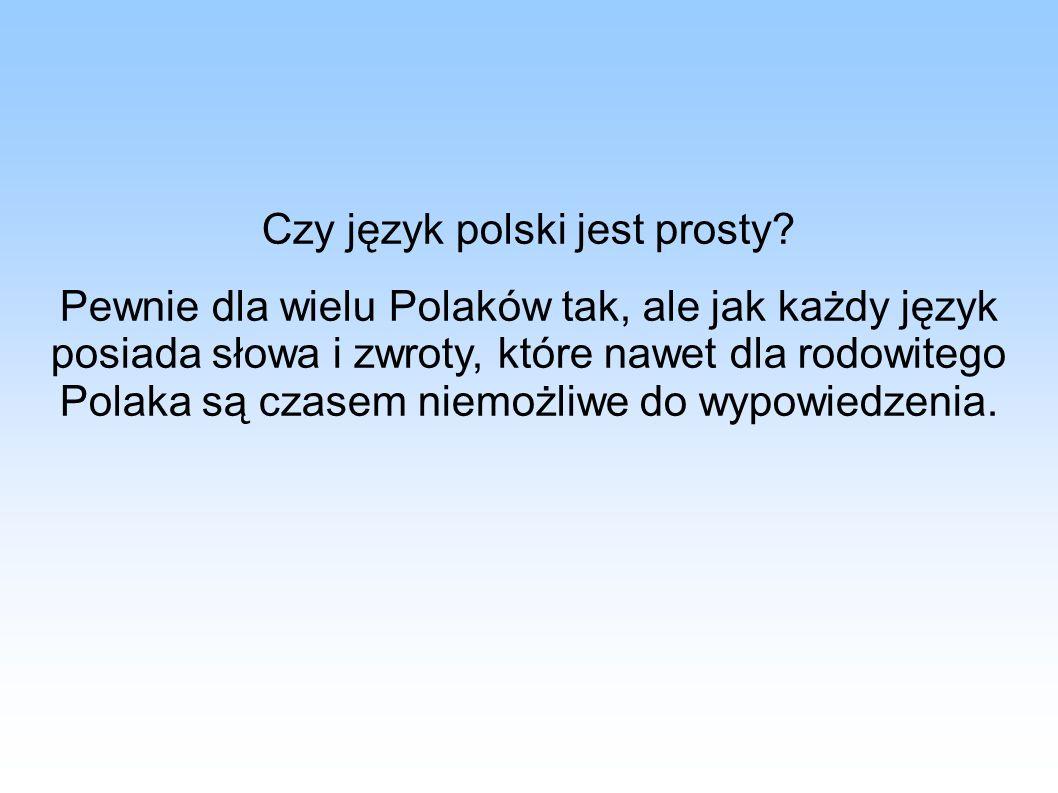 Czy język polski jest prosty? Pewnie dla wielu Polaków tak, ale jak każdy język posiada słowa i zwroty, które nawet dla rodowitego Polaka są czasem ni