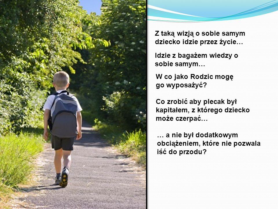 Z taką wizją o sobie samym dziecko idzie przez życie… Co zrobić aby plecak był kapitałem, z którego dziecko może czerpać… Idzie z bagażem wiedzy o sob