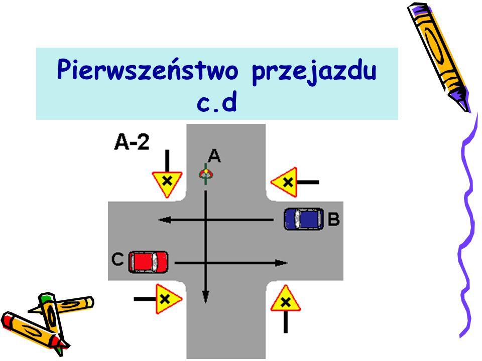Pierwszeństwo przejazdu Przecinanie się kierunków ruchu - naszego i innych uczestników ruchu drogowego (a taka właśnie sytuacja ma miejsce na skrzyżowaniach) - związane jest z ustaleniem pierwszeństwa przejazdu.