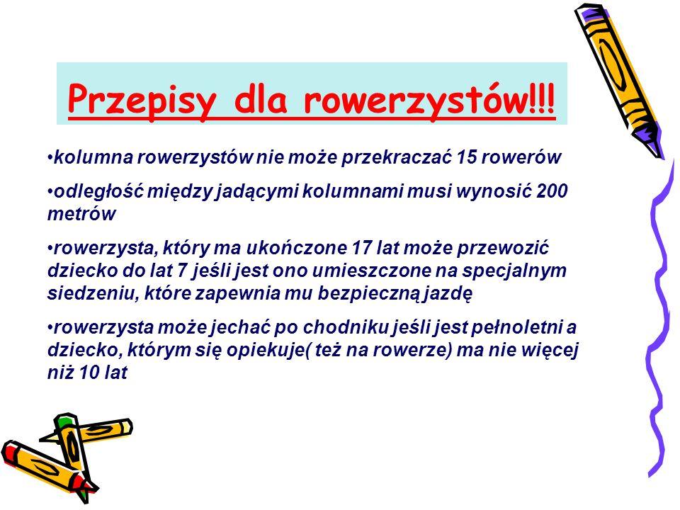 Przepisy dla rowerzystów!!.