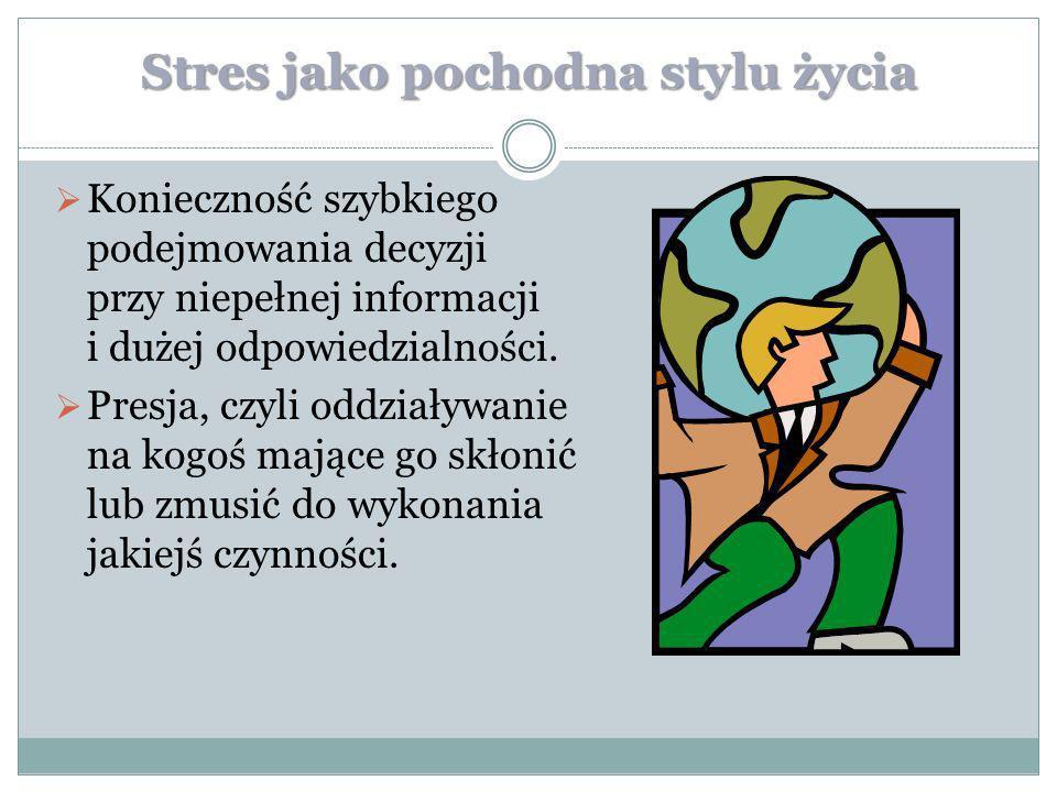 Jak walczyć ze stresem Niezwykle ważne jest abyś zdał sobie sprawę, że jesteś odpowiedzialny za swój własny poziom stresu.