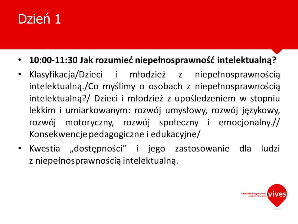 10:00-11:30 Jak rozumieć niepełnosprawność intelektualną? Klasyfikacja/Dzieci i młodzież z niepełnosprawnością intelektualną./Co myślimy o osobach z n