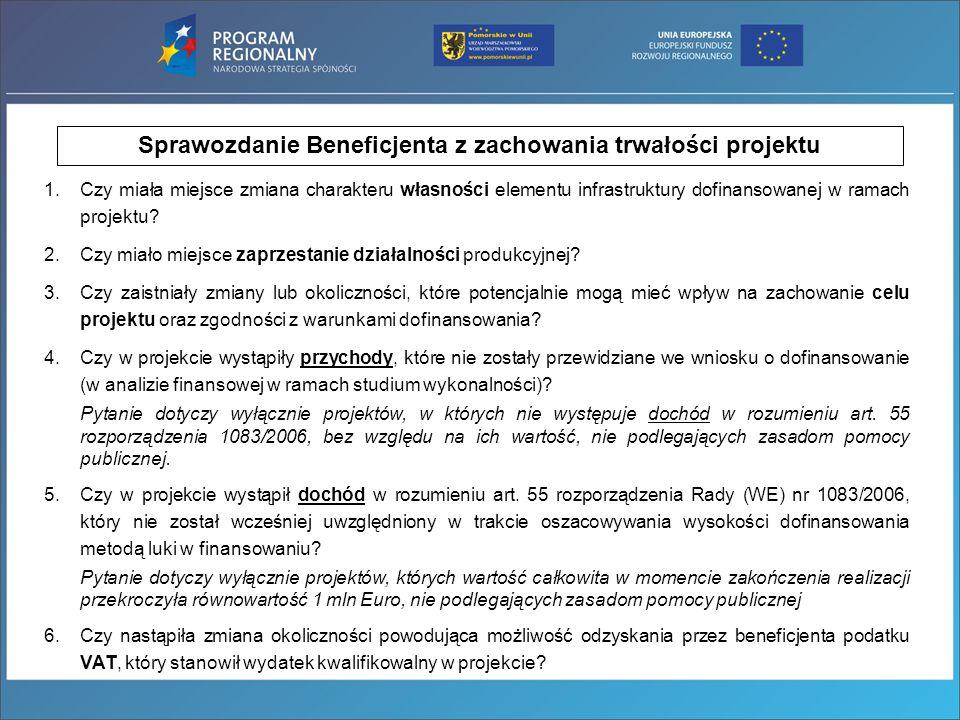 7.Czy cała dokumentacja związana z realizacją projektu jest przechowywana w siedzibie Beneficjenta, w sposób gwarantujący jej zachowanie przez wymagany okres wynikający z umowy o dofinansowanie.