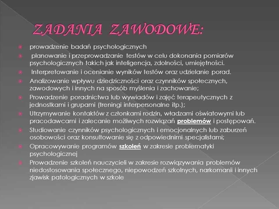 - prowadzenie dzia ł alno ś ci naukowej i dydaktycznej; - przygotowywanie naukowych referatów i raportów - publikowanie wyników bada ń ; - udzia ł w konferencjach i seminariach naukowych
