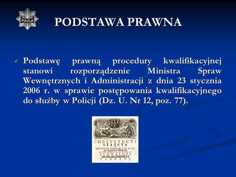 PROCES DOBORU DO SŁUŻBY W POLICJI www.policja.pl