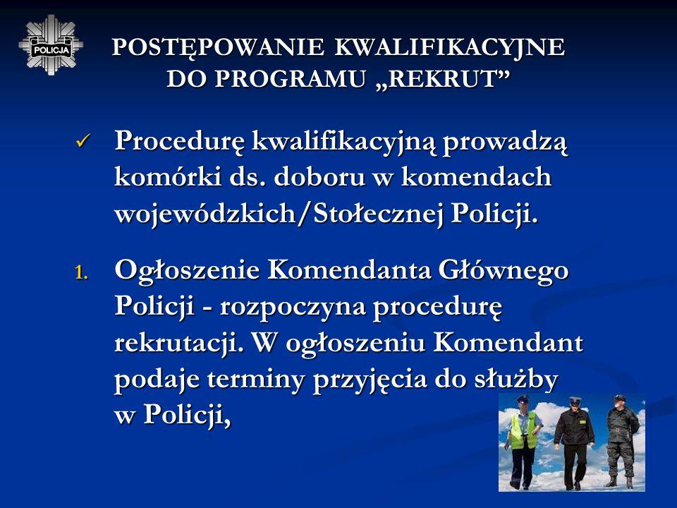 * Postępowanie kwalifikacyjne prowadzone w stosunku do kandydata ubiegającego się o przyjęcie do programu a nieposiadającego średniego wykształcenia m