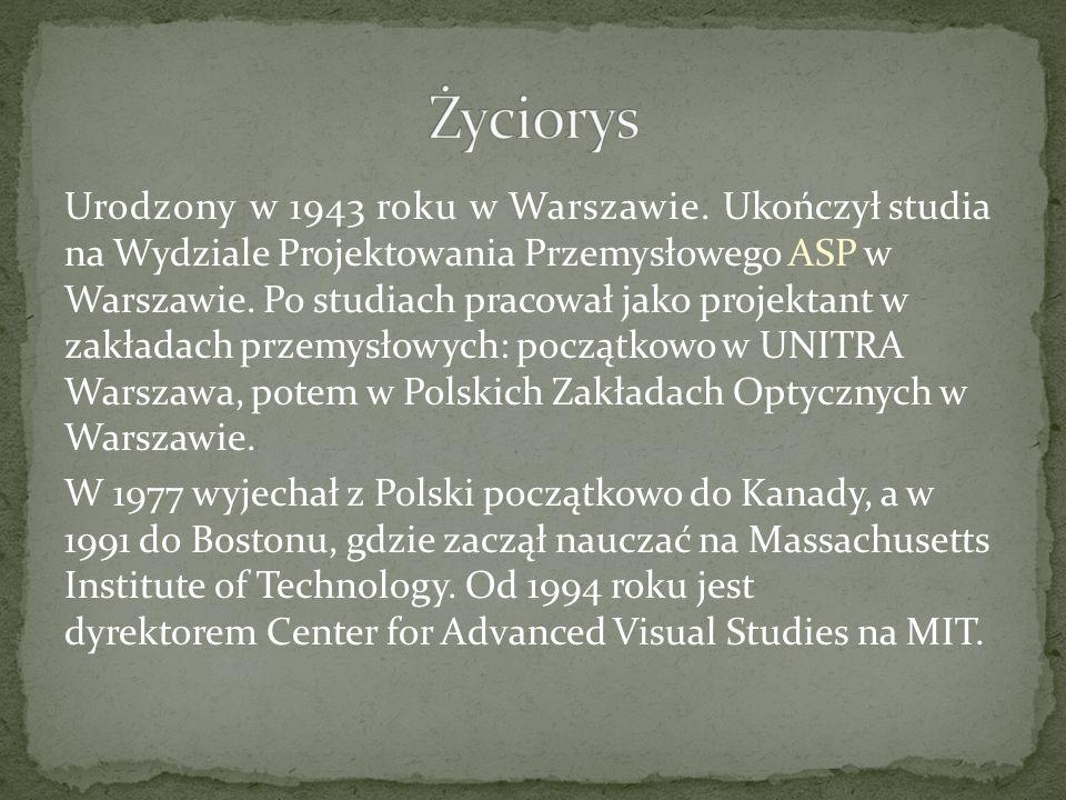 Urodzony w 1943 roku w Warszawie. Ukończył studia na Wydziale Projektowania Przemysłowego ASP w Warszawie. Po studiach pracował jako projektant w zakł