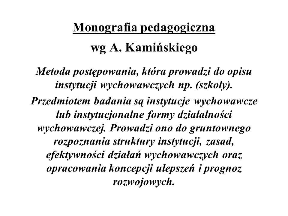 Monografia pedagogiczna wg A.