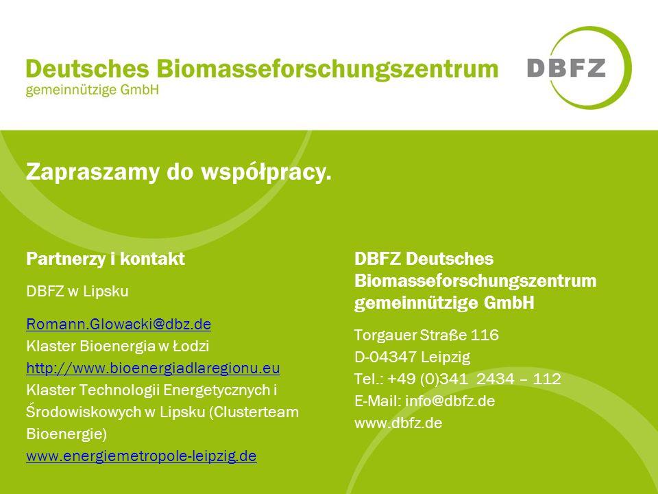 DBFZ Deutsches Biomasseforschungszentrum gemeinnützige GmbH Torgauer Straße 116 D-04347 Leipzig Tel.: +49 (0)341 2434 – 112 E-Mail: info@dbfz.de www.d