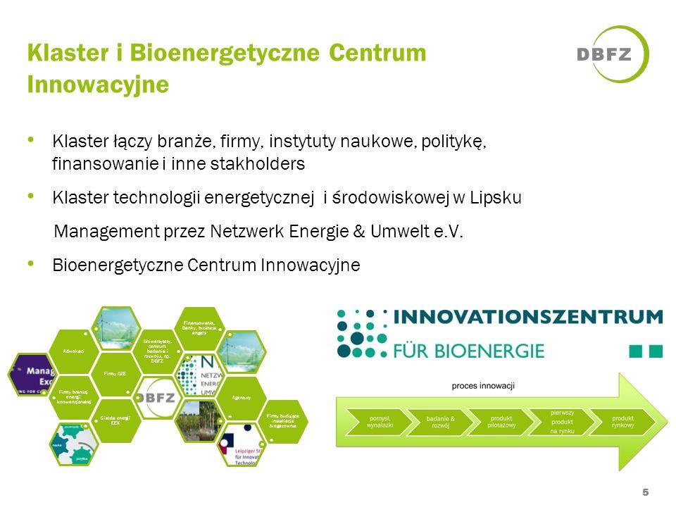 Klaster i Bioenergetyczne Centrum Innowacyjne 5 Klaster łączy branże, firmy, instytuty naukowe, politykę, finansowanie i inne stakholders Klaster tech