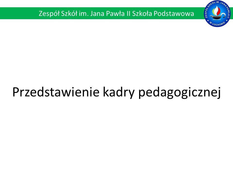 Przedstawienie kadry pedagogicznej Zespół Szkół im. Jana Pawła II Szkoła Podstawowa