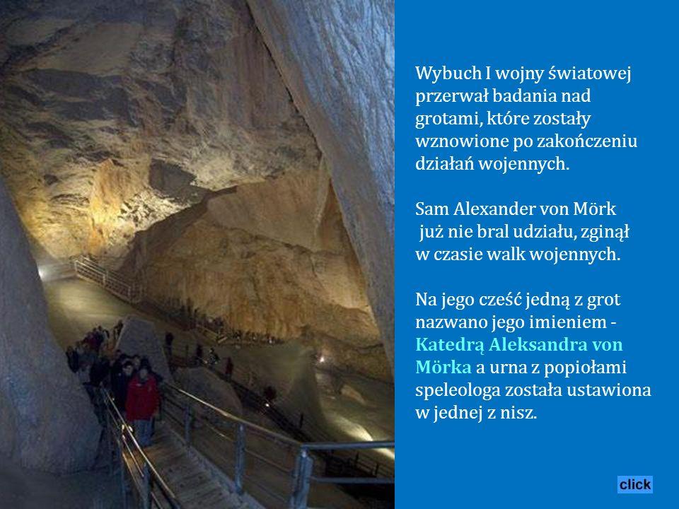 Historia odkrycia jaskiń sięga roku 1879, kiedy to badacz Anton von Posselt-Czorich dotarł tylko na głębokość 200 m, po czym natrafił na ścianę lodu.
