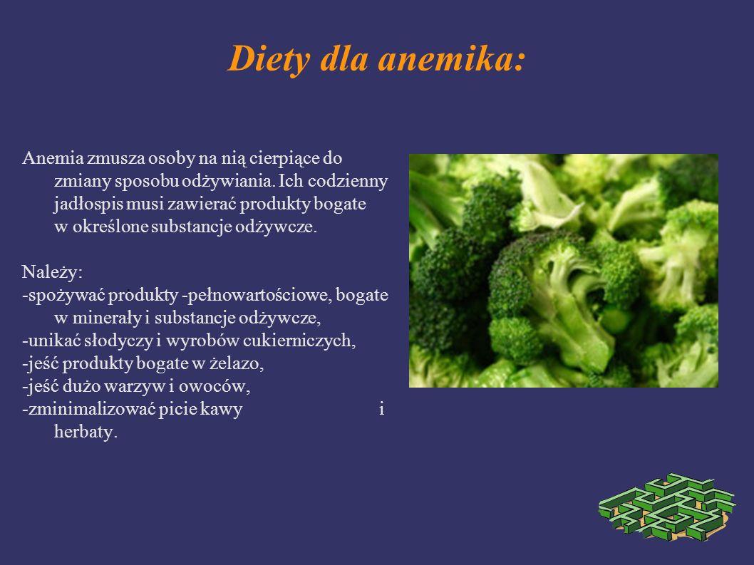 Diety dla anemika: Anemia zmusza osoby na nią cierpiące do zmiany sposobu odżywiania. Ich codzienny jadłospis musi zawierać produkty bogate w określon