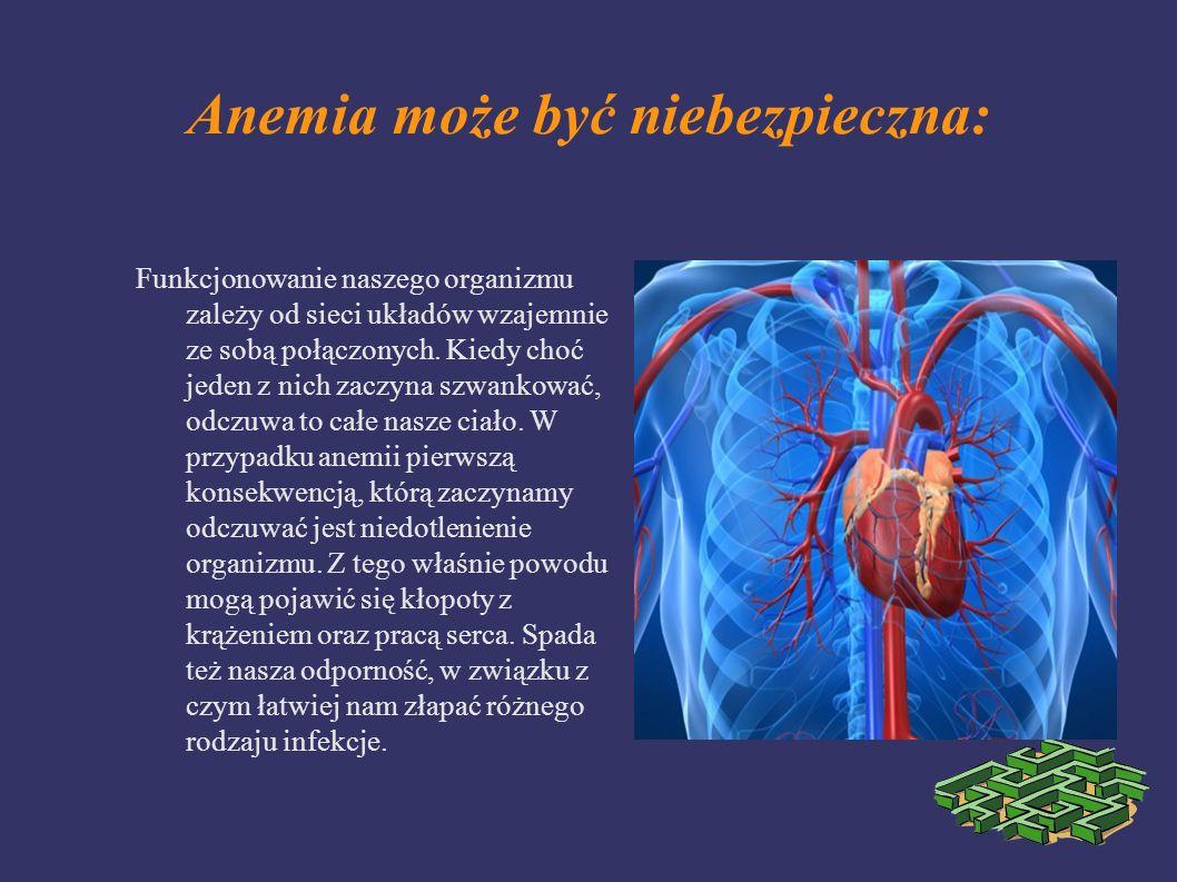 Anemia może być niebezpieczna: Funkcjonowanie naszego organizmu zależy od sieci układów wzajemnie ze sobą połączonych. Kiedy choć jeden z nich zaczyna