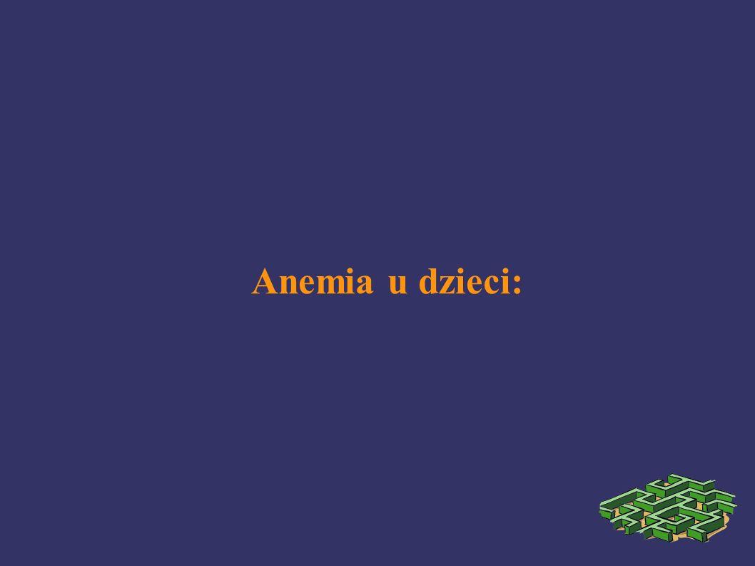 Anemia u dzieci: