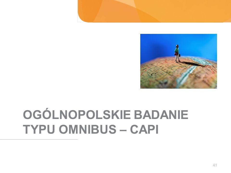 OGÓLNOPOLSKIE BADANIE TYPU OMNIBUS – CAPI 41