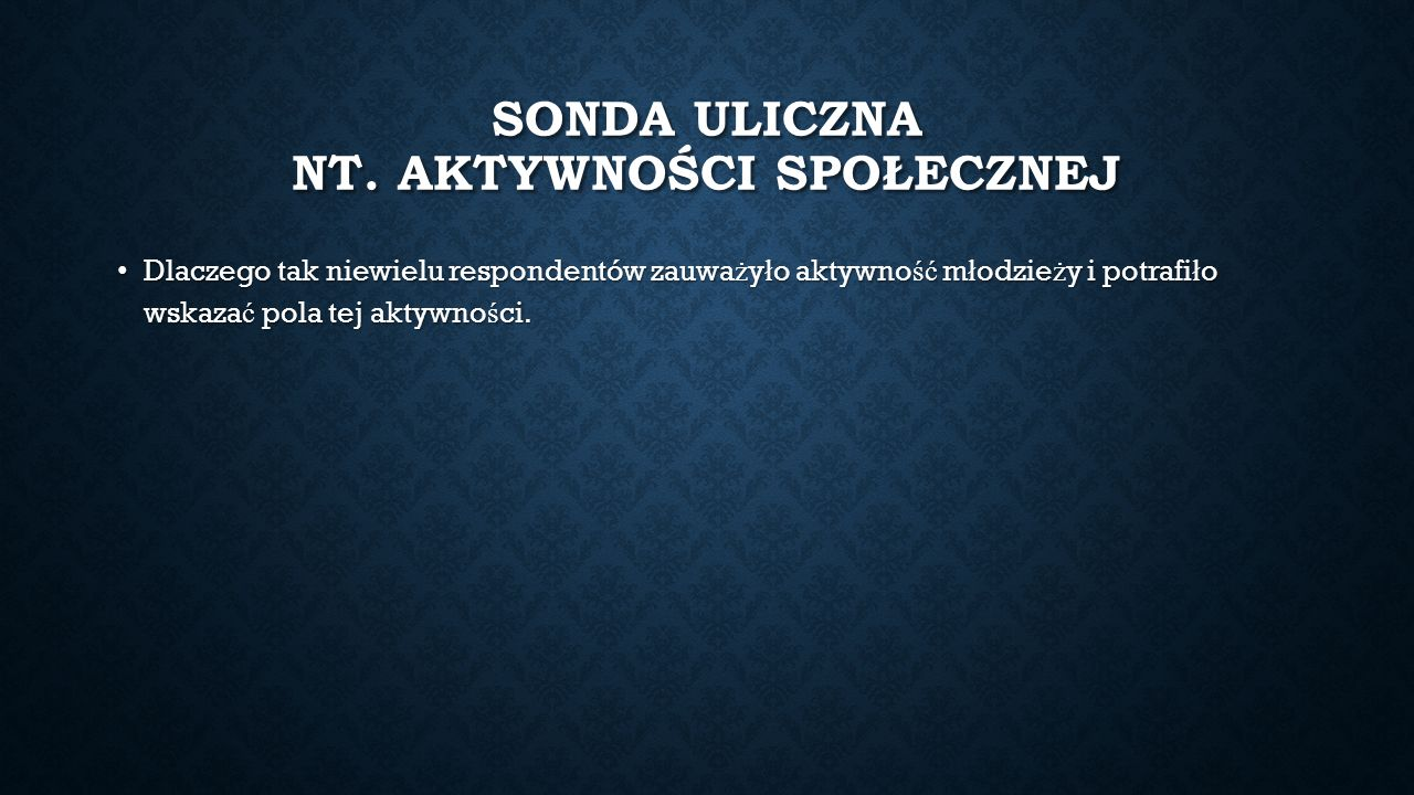 SONDA ULICZNA NT.