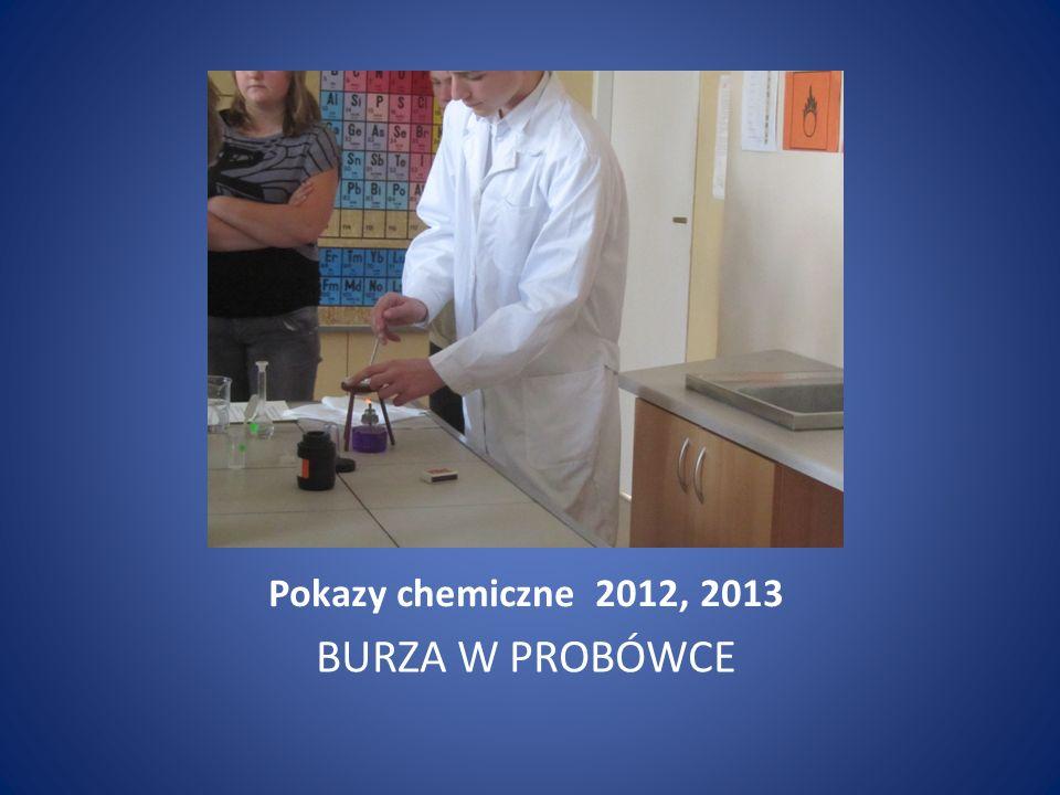 Pokazy chemiczne 2012, 2013 BURZA W PROBÓWCE