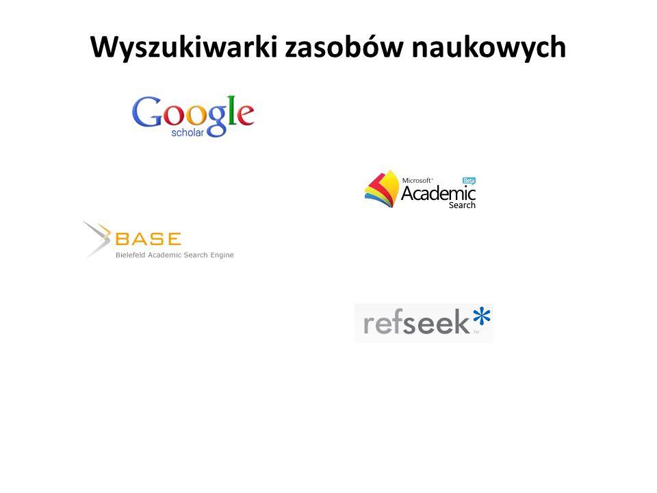 Wyszukiwarki zasobów naukowych