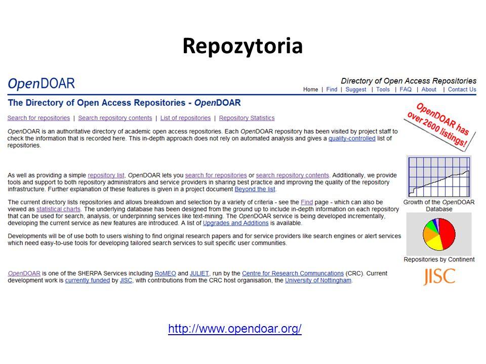 Repozytoria http://www.opendoar.org/
