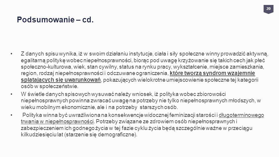 Podsumowanie – cd.