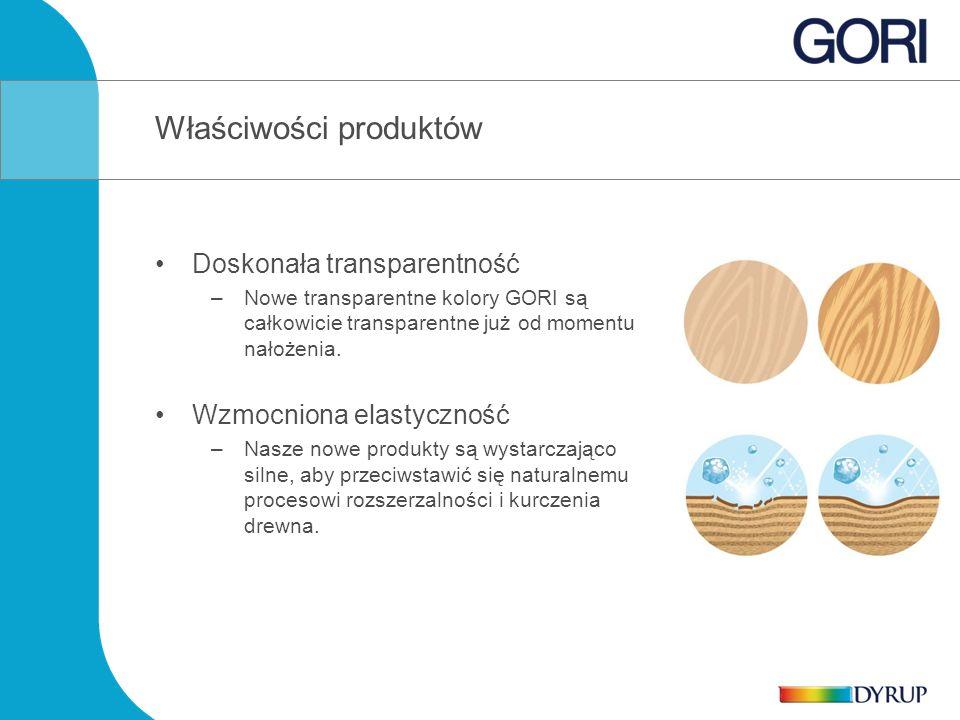Doskonała transparentność –Nowe transparentne kolory GORI są całkowicie transparentne już od momentu nałożenia.